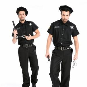 ハロウィン  警官 警察 ポリス 男性用 メンズ 仮装 コスプレ衣装 ps2441(ps2441)