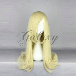原宿ガール 可愛い ロリータ ゴールド  ロング コスプレウィッグ  wig-522a(wig-522a)
