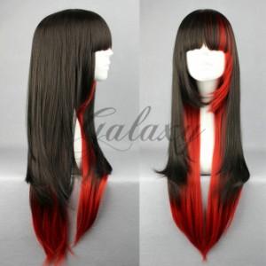 原宿ガール 可愛い ロリータ ブラック・レッド コスプレウィッグ  wig-280a(wig-280a)