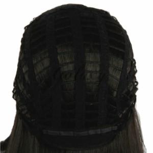 ハクメイとミコチ ミコチ ブラック ロング ストレート コスプレ 耐熱 ウィッグfh462b(fh462b)