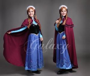 461254b38fee7 アナと雪の女王 frozen アナ Ana ドレス マント付き 長袖 コスプレ 衣装 vv039