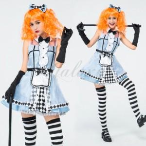 c52d646f1159d ハロウィン 不思議の国のアリス アリス 可愛い メイド ワンピース 童話 コスプレ衣装 ps3499s 即日