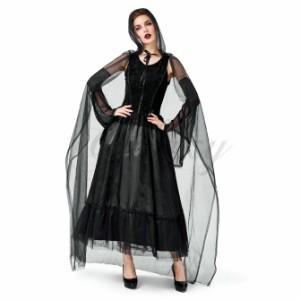 22a7113dc3842 ハロウィン クール 魔女 魔法使い ウォッチ 吸血鬼 ヴァンパイア シャーマン 死神 S-XL 仮装 コスプレ衣装