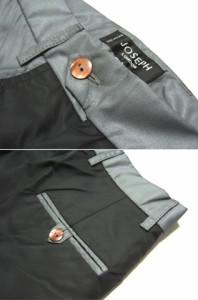 JOSEPH 黒 ナイロン切替ドレスパンツ ジョセフ 027184