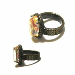 新品同様 廃盤 ANNA SUI アンティークフラワーゴールドリング antique flower gold ring (アナスイ) 037146