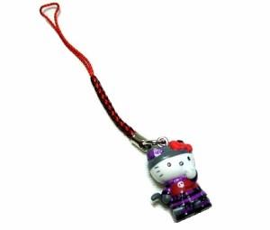 Hello Kitty×h.naoto ゴシックキティーちゃん携帯ストラップ (ハローキティ エイチナオト ゴスロリ) 042016