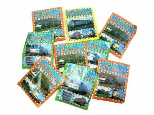昭和レトロ 精巧スケールブルートレイン消しゴム5両入「ブルートレインブック付「1袋販売」」(ヴィンテージ) 042022