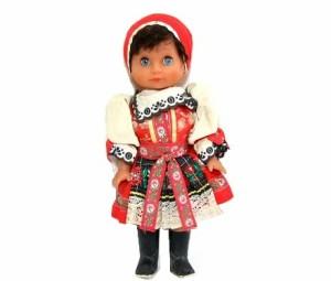 Vintage1970 スイス民族衣装女の子「目開閉」(Switzerland costume girl) EXPO70 大阪万博 042451