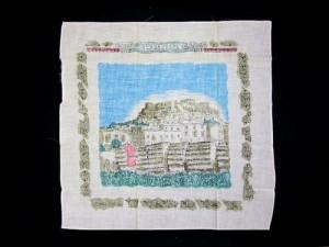 Vintage EXPO'70 大阪万博 世界名所シリーズ「ギリシャ」ハンカチーフ (Greek handkerchief) エキスポ EXPO70 ヴィンテージ 043528