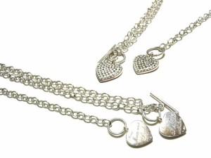 Prouds 1903 SILVER927 プリンセスハートネックレス・ブレスレットset (princess heart necklace & bracelet set) プラウド 044447