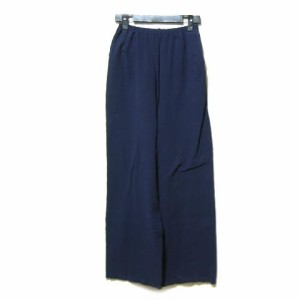 Prantation「ISSEY MIYAKE」紺ワイドイージーサルエルパンツ (navy blue wide easy pants) プランテーション イッセイミヤケ 045978