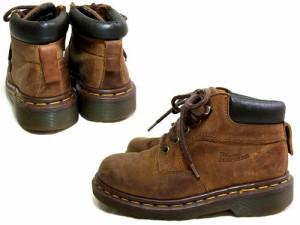 vintage Dr.Martens ヴィンテージ ドクターマーチン KID'S「UK2」生産終了英国製オイルドレザートレッキングブーツ (靴シューズ) 046396