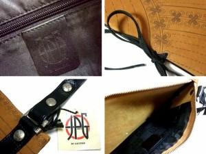 新品同様 Jean Paul GAULTIER ジャンポールゴルチエ ITALY フェイクデザイン総レザーバッグ (ゴルチェ) 046411