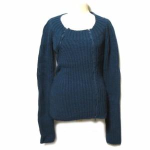 Alessandro dell'Acqua「40」変形ダブルニットカーディガン・セーター (double knitting cardigan) アレッサンドロ デラクワ 046715