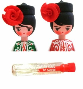 BULGARIA Rose Perfume Wooden doll (ブルガリア ローズ香水入り 木製ハンドメイド人形) 東欧 パルファム マトリョウシカ 056772