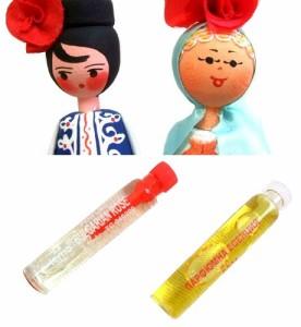 BULGARIA Rose Perfume Wooden doll (ブルガリア ローズ香水入り 木製ハンドメイド人形) 東欧 パルファム マトリョウシカ 056781