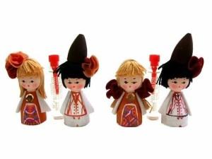 BULGARIA Rose Perfume Wooden doll (ブルガリア ローズ香水入り 木製ハンドメイド人形) 東欧 パルファム マトリョウシカ 056792