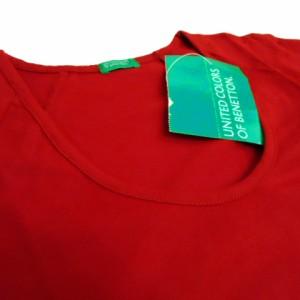 【新品】 UNITED COLORS OF BENNETTON ユナイテッドカラーズオブ ベネトン「XS」プレーンロングスリーブTシャツ 059382