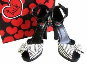 【新品】t.u.k「US8」ロカビリーヒールサンダル (Rockabilly heel sandals) シューズ ミュール パンプス TUK 061409
