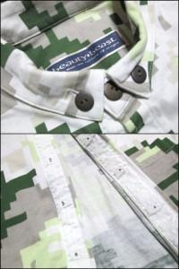 beauty:beast「M」Digital camouflage shirt, blouse ビューティー ビースト デジタルカモフラージュシャツ、ブラウス (迷彩) 061654