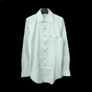 Shirts Kitchen Nobu&Hilo シャツキッチン ノブアンドヒロ「M」ストライプデザインシャツ (ブラウス カッターシャツ) 062678