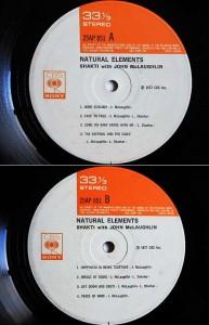 SHAKTI with JOHN McLAUGHLIN NATURAL ELEMENTS (アナログ盤レコード SP LP) 065791