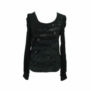 HONEY h.naoto Black princess cut and sewn ハニー エイチナオト ブラック プリンセス カットソー Tシャツ 066100