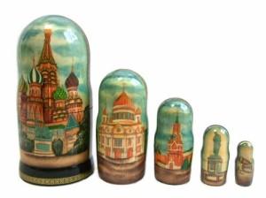 【新品】RUSSIA ロシア クレムリン マトリョウシカ 5セット (人形) 067158