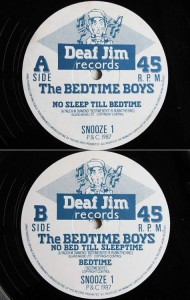 The BEDTIME BOYS NO SLEEP TILL BEDTIME (アナログ盤レコード SP LP)■