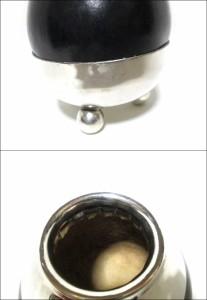 【新品】Mate Tea マテ茶 瓢箪×シルバー 容器 (茶器 洋銀 M-HYA01 無地) 069034