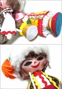 【新品】BULGARIA ブルガリア 民族木製 ハンドメイド 人形 (東欧雑貨 マトリョウシカ) 069139