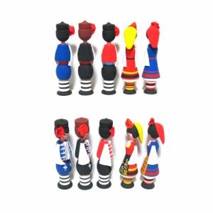 【新品】BULGARIA ブルガリア 民族木製 ハンドメイド 人形 ローズ香水入 (東欧雑貨 パルファム) 069144
