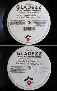 GLADEZZ When You Need Somebody(Everybody Needs Somebody) (アナログ盤レコード SP LP)■