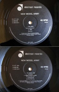 NEW MODEL ARMY THE PRICE (アナログ盤レコード SP LP)■