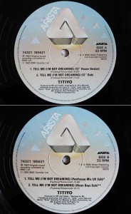 TITIYO TELL ME (I'M NOT DREAMING) (アナログ盤レコード SP LP)■