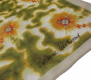廃盤 Vivienne Westwood ヴィヴィアンウエストウッド サンダー オーブスカーフ ハンカチーフ (ビビアン) 069465