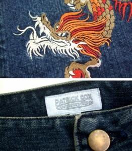PATRICK COX wannabe パトリックコックス ワナビー「7」ドラゴン刺繍 デニムスカート (ジーンズ) 070483