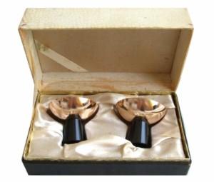 vintage Commemorative gold cup 2set ヴィンテージ 記念金杯 2セット (ビンテージ 金盃)■