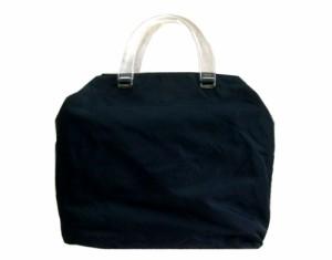 efffe5128e24 廃盤 PRADA プラダ ITALY イタリア製 クリアーハンドル ナイロントート バッグ (鞄カバン) 071015【