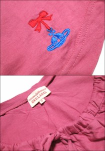 Vivienne Westwood RED LABEL ヴィヴィアンウエストウッド レッドレーベル「2」リボンオーブ カットソー Tシャツ (ビビアン) 072432