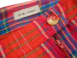 i,e,relaxsd リラックス ブルガリア製 タータンチェックウールスカート 075379