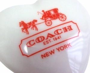 廃盤 COACH コーチ 限定 ハートアクセサリーケース (陶器) 0761458