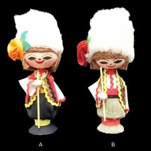 【新品】BULGARIA ブルガリア 民族木製 ハンドメイド 人形 (東欧雑貨 マトリョウシカ) 076884