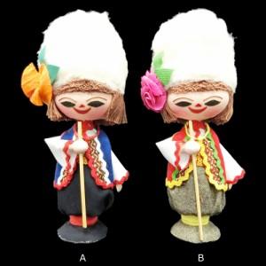 【新品】BULGARIA ブルガリア 民族木製 ハンドメイド 人形 (東欧雑貨 マトリョウシカ) 076886