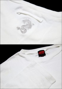 Jean Paul GAULTIER ジャンポールゴルチエ「48」ドラゴン刺繍ストレッチロングスリーブTシャツ (ゴルチェ オム ファム 龍) 079215