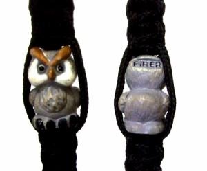 新品同様 Owl フクロウ キーリング 2個セット (キーホルダー チャーム 梟) 081174