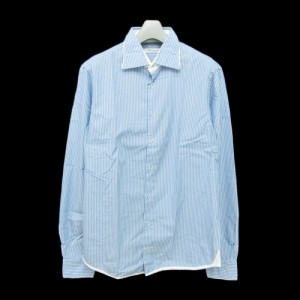 44715be9821b8b 新品同様 Buongiorno e tante belle cose ボンジョルノ「40」イタリア製 ストライプ デザインシャツ (