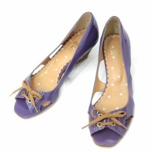 ANNA SUI アナスイ「3 1/2」パイレーツカットワーク エナメルパンプス (靴シューズ サンダル) 084618