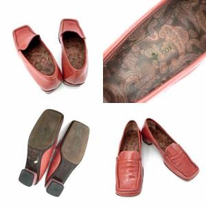 PATRICK COX パトリックコックス「37」ピンクエナメルヒールローファー (靴シューズ ブーツ) 084671