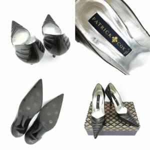 PATRICK COX パトリックコックス「35 1/2」ゴシックラバーデザイン ハイヒールシューズ (靴 ミュール パンプス) 084679